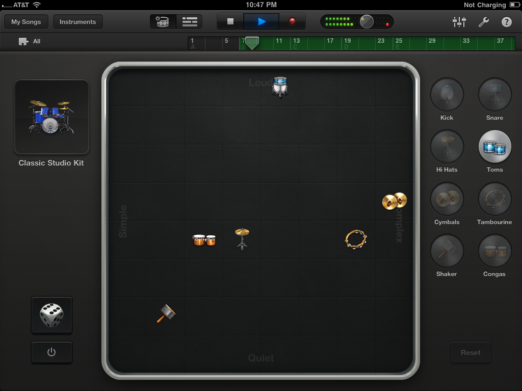 GarageBand Virtual Drums